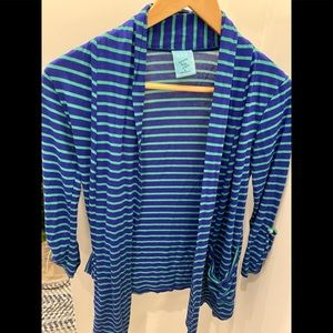 Women's HIP blue/green striped cardigan size small
